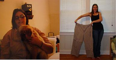 55 kilos mais magra.